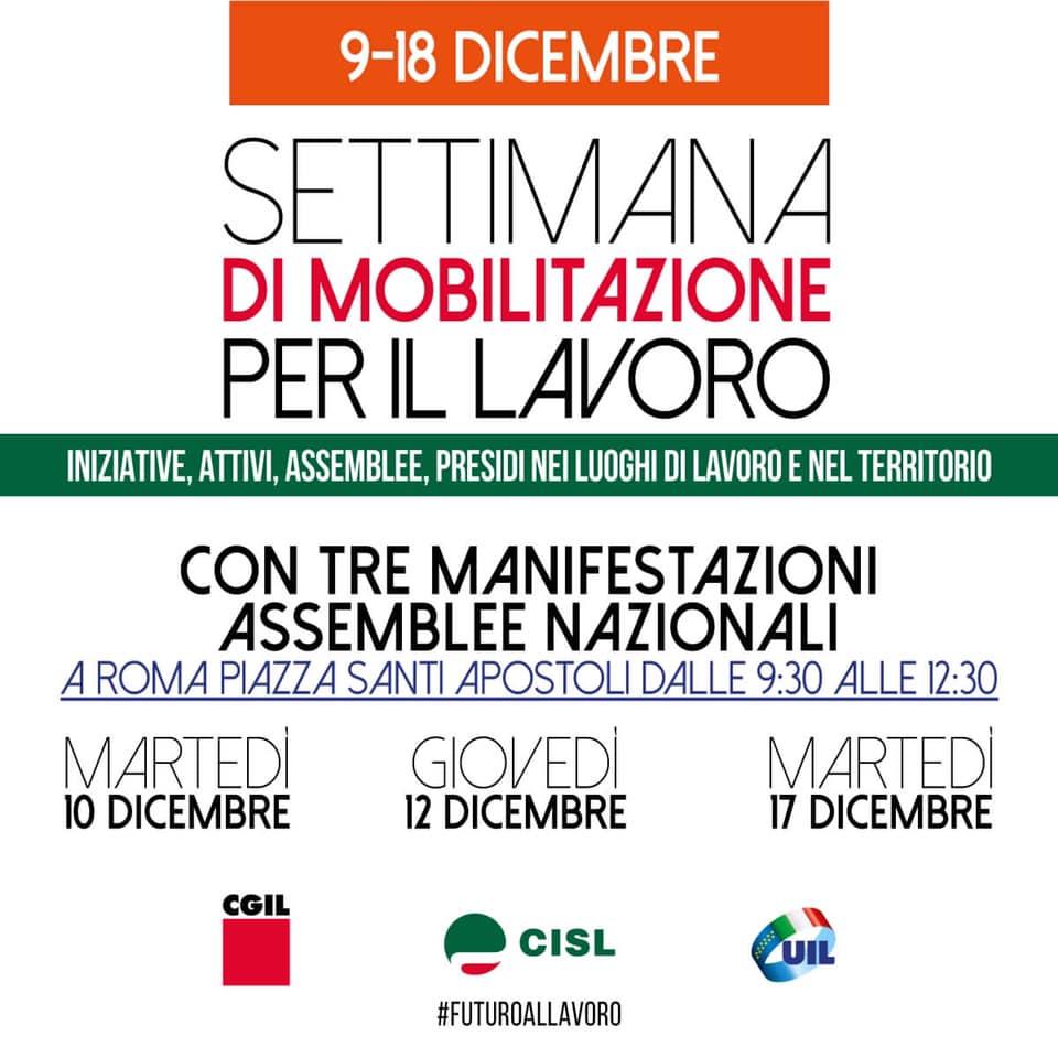 Manifestazione Roma 10 dicembre 2019