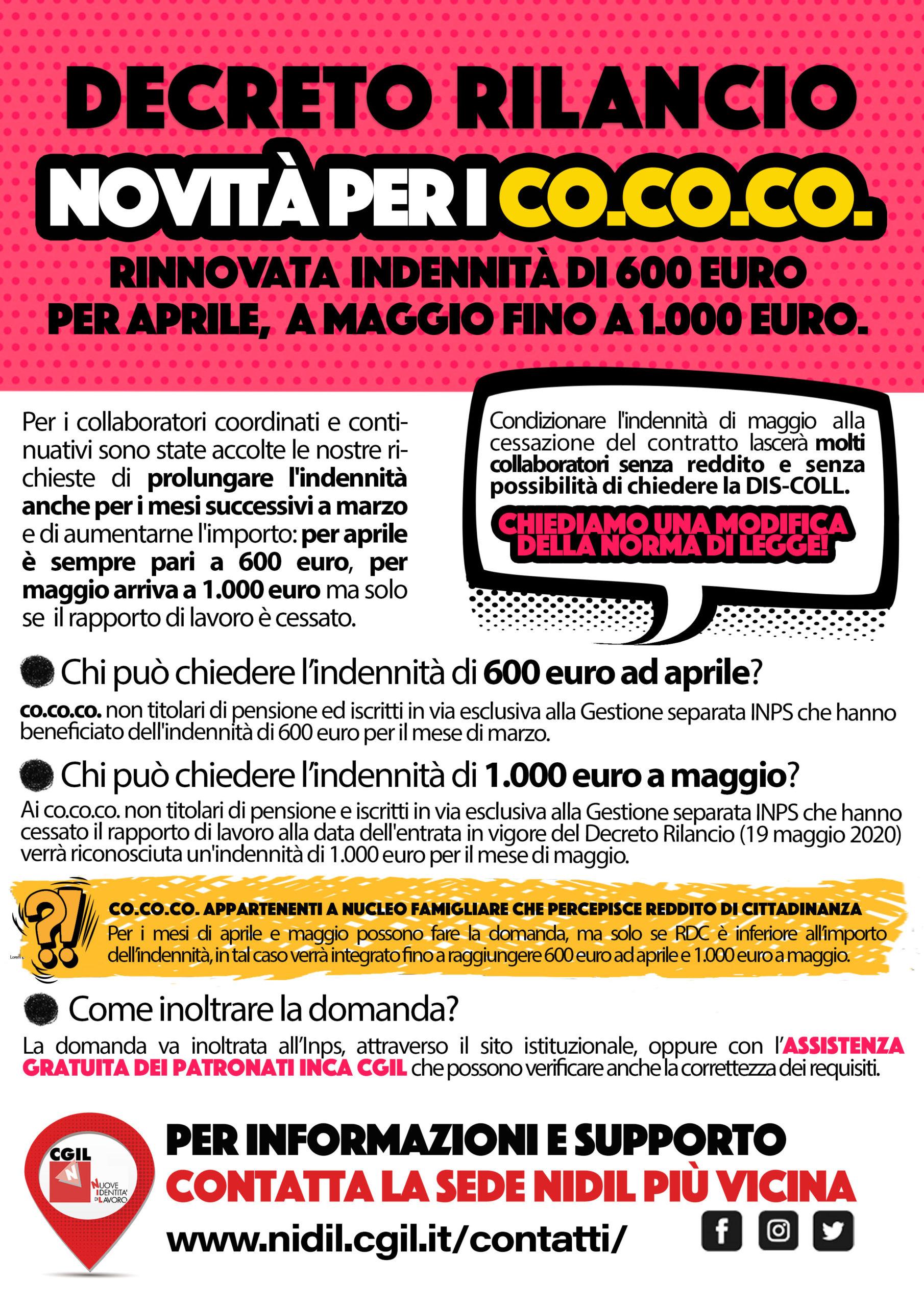 Decreto Rilancio Co.co.co.