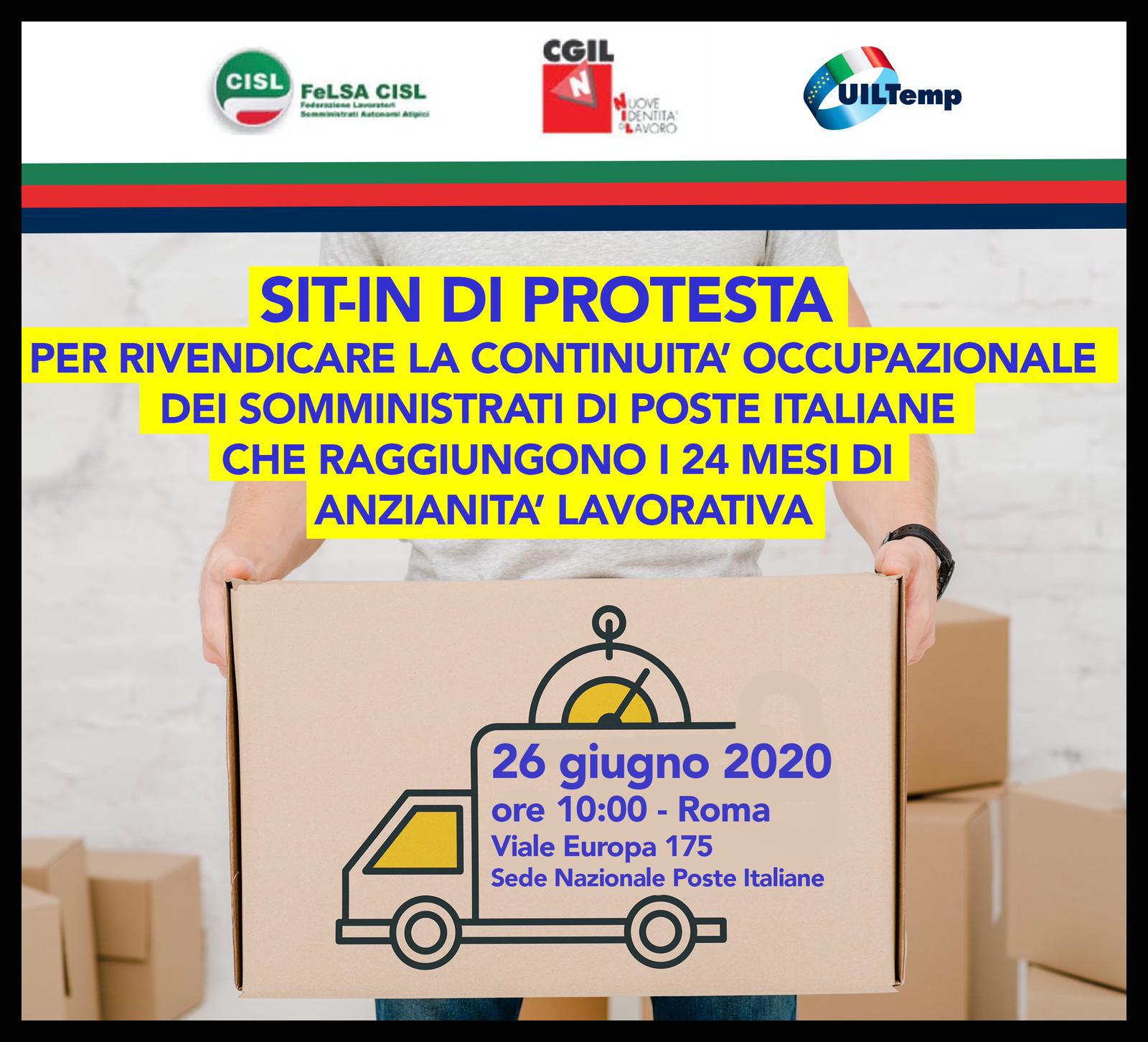 SIT-IN Poste Italiane