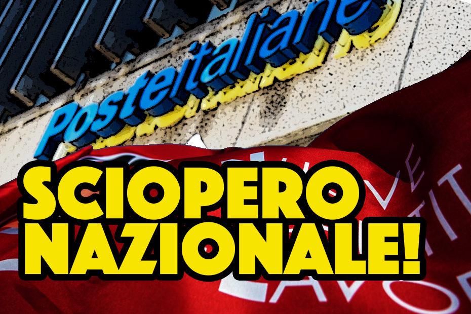 Sciopero Nazionale autisti somministrati Poste Italiane 27 luglio 2020