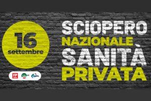 SOMMINISTRAZIONE. Adesione unitaria sciopero Sanità privata 16 settembre 2020