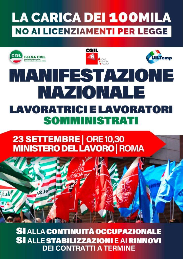 Manifestazione Nazionale 23 settembre 2021