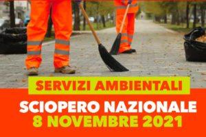 SOMMINISTRAZIONE. Adesione sciopero settore servizi ambientali