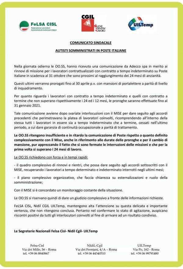 30.10.2020-Comunicato-sindacale--Autisti-somministrati-in-Poste-Italiane